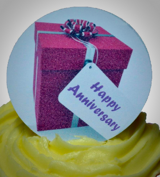 Edible cake toppers decoration - Happy Anniversary